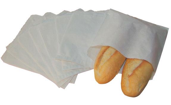 White Sulphite Paper Bags Strung
